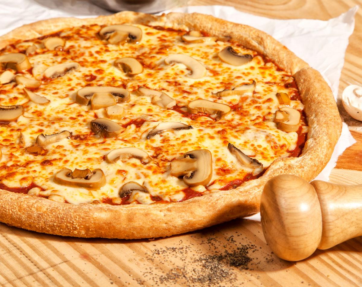Pizza de hongos
